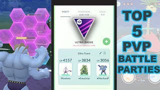 TOP 5 PVP BATTLE PARTIES TO WIN in Pokemon Go (PART 1 - The Most Common)
