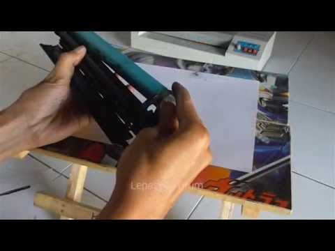 How to refill cartridge HP P1102 cartridge 85A & Cleaning Waste Tank