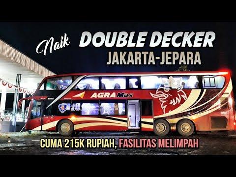 PASTI PUAS!! Naik Agra Mas DOUBLE DECKER MURIAAN Jakarta-Jepara BM 105