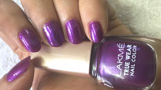 Lakm True Wear Nail Color - Swatch and Review