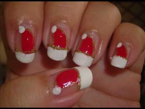 - Nail Art - Santa's Hat (Sort Of...) - YouTube