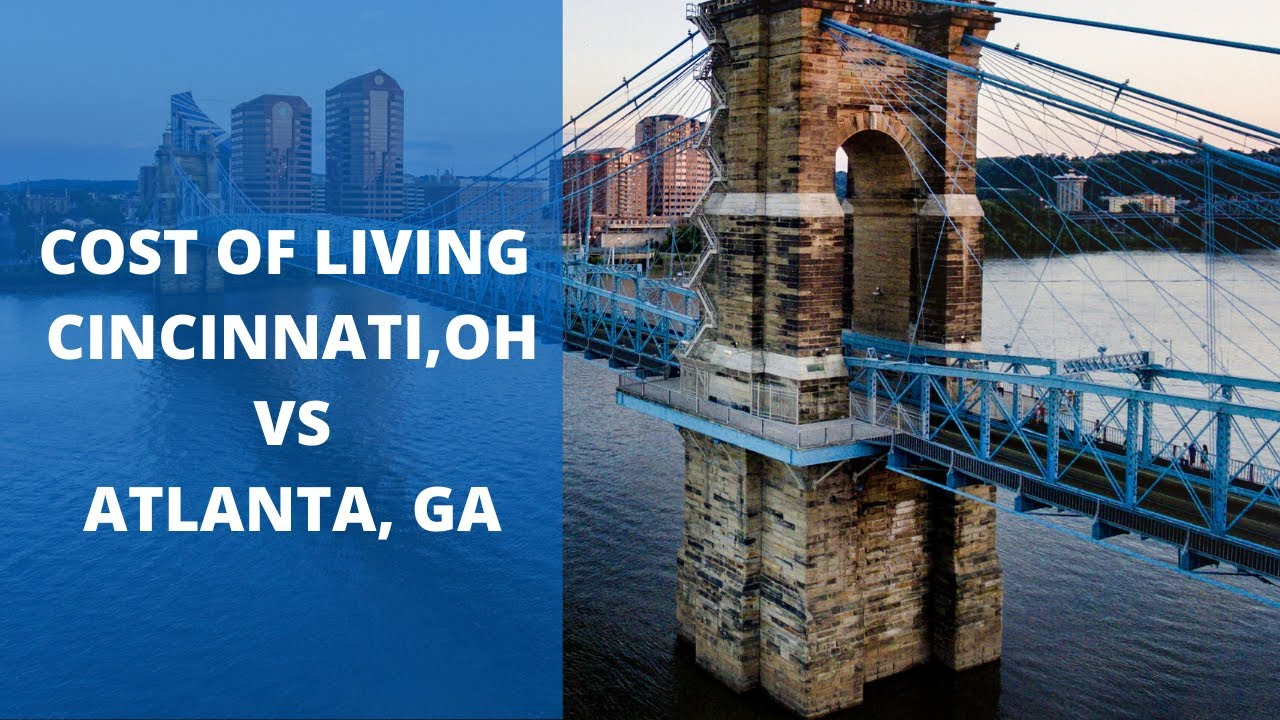 Cost of Living in CINCINNATI VS ATLANTA - How MUCH $$$ can you SAVE?
