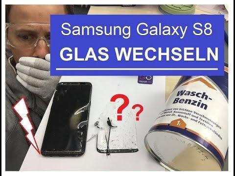 Samsung Galaxy S8 Glas Tauschen Wechseln Reparatur UNTER ...
