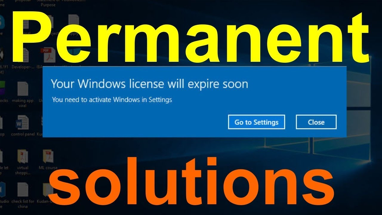 Your Windows license will expire soon You need to activate Windows in settings