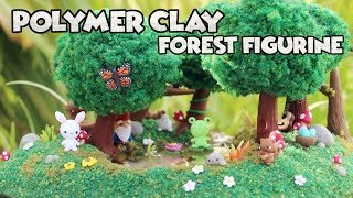 Polymer Clay Forest Figurine│Watch Me Craft Process Video