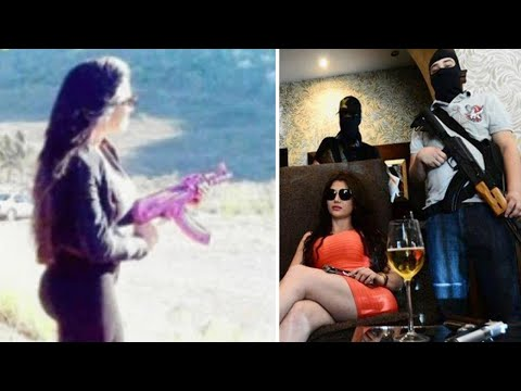 Mexican Kim Kardashian 'takes over as boss of drug cartel hit squad' uses personalised pink AK47