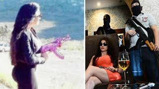 Repeat youtube video Mexican Kim Kardashian 'takes over as boss of drug cartel hit squad' uses personalised pink AK47