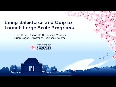 Using Salesforce and Quip to Launch Large Scale Programs