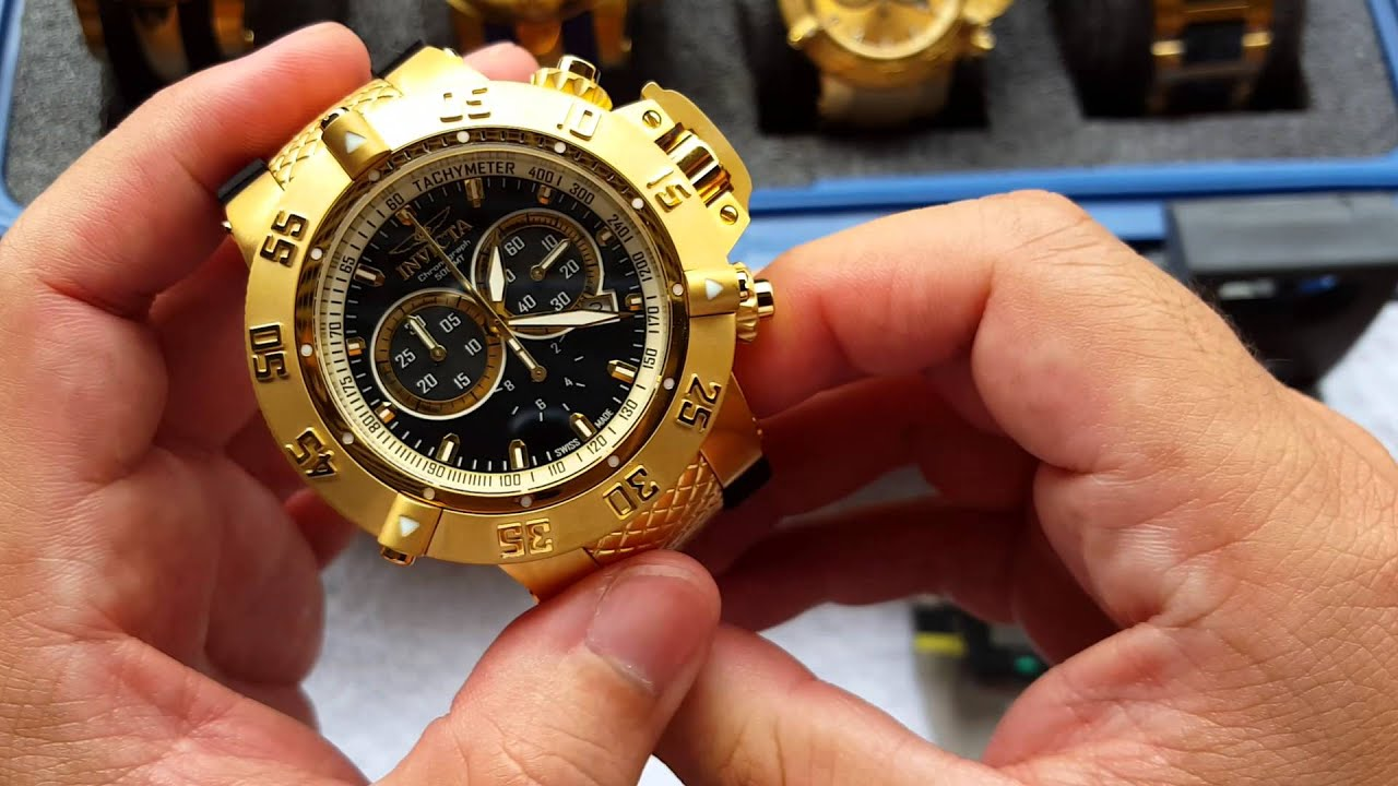 f732e1c3ad1 Relógio invicta subaqua 5514 original suiço - YouTube