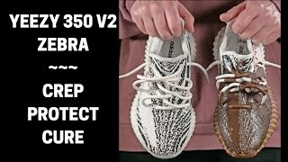CLEANED BY CREP PROTECT CURE: Yeezy 350 v2 Zebra VS. Oreo Smoothies