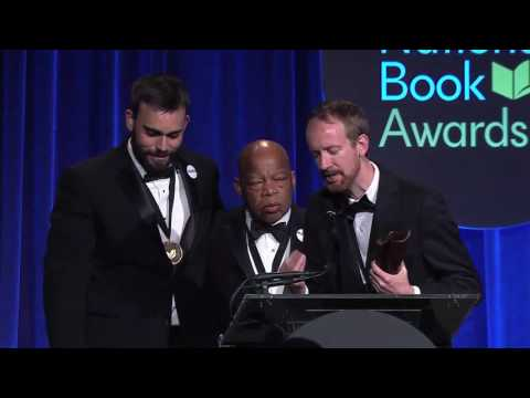 2016 National Book Awards -Lewis, Aydin & Powell Win Young People's Lit. Award (Highlight)