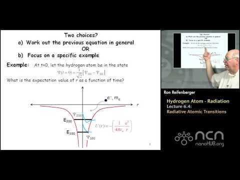 Purdue PHYS 342: Modern Physics L6.4: Hydrogen Atom: Radiative Atomic Transitions