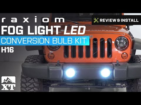 jeep wrangler raxiom fog light led conversion bulb kit h16 2010 rh zajilspeed com  Hella Lights Wiring Diagram for a Jeep