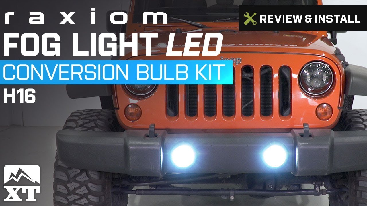 Jeep Wrangler Fog Lights >> Jeep Wrangler Raxiom Fog Light Led Conversion Bulb Kit H16 2010 2017 Jk Review Install