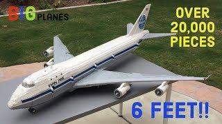 Custom LEGO Pan Am 747 - 20,000 pieces over 6 feet long!!