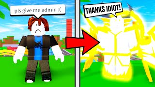 I Turned NOOBS Into GODS With Admin Commands! (Roblox)
