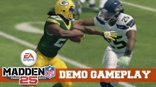 Madden NFL 25 - Demo: Seahawks vs Packers - 1st Quarter Gameplay (Xbox 360)