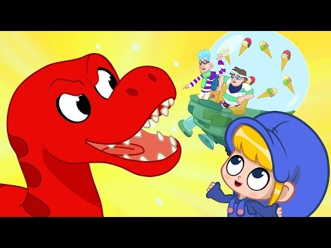 Morphle's icecream fell! My Magic Pet Morphle episodes for kids (T-Rex, Turtle, Spinosarus)