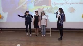 """Заларинская сош №1 сценка учеников """"Урок музыки""""."""