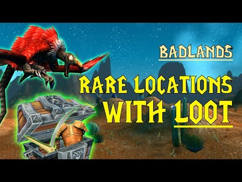 WoW Classic - Rare Mob Locations + UNIQUE LOOT - Badlands