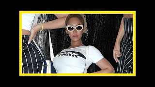 Beyonce shows off toned stomach in an ivy park crop top and formfitting skirt: pics-Latest Celeb Ne