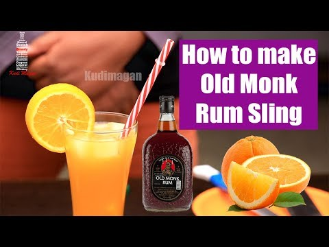 How To Make OLD MONK RUM SLING Cocktail At Home