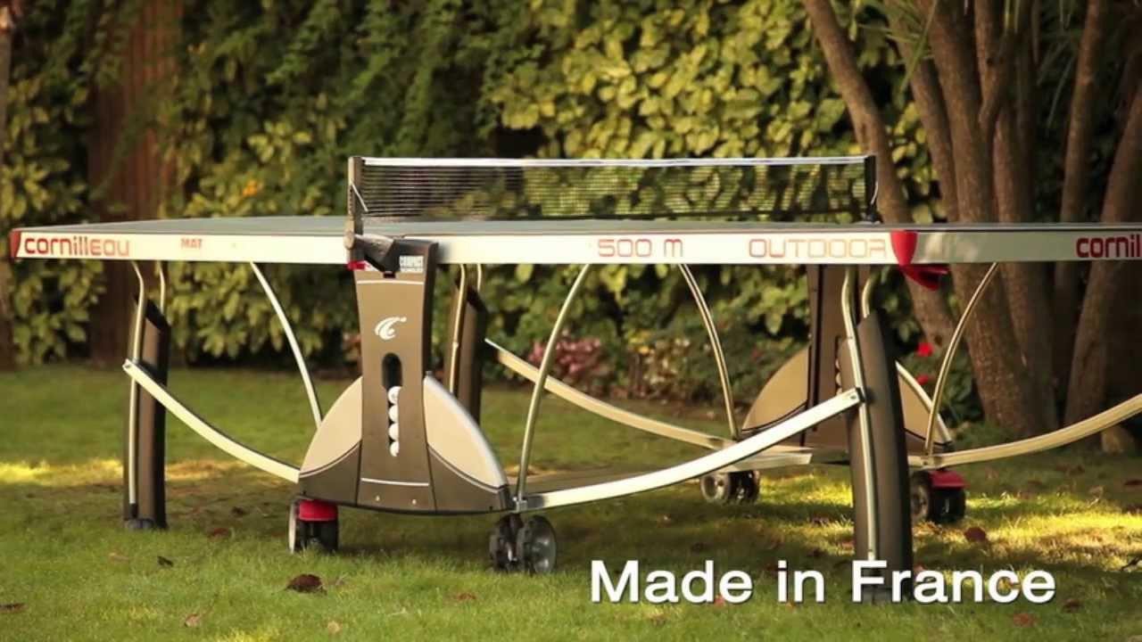 ebef2e457ae173 Cornilleau 500M Outdoor Table Tennis Table - YouTube