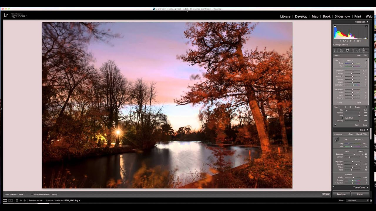 retouche photo paysage avec lightroom 5