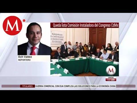 Queda lista Comisión Instaladora del Congreso CdMx
