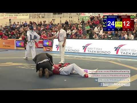ABUGHAUSH Ahmad (JOR) vs PONTES Edival (BRA) 2018 WT GP Manchester