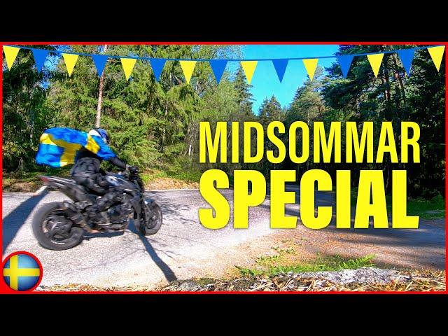 Midsommarspecial | Sjöberg-Åkersberga på Slingriga Vägar - Glad Midsommar! - Honda CB1000R