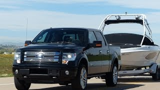 2014 Toyota Tundra vs Ford F-150 vs Ram 1500 0-60 Towing Matchup Review (Part 4)