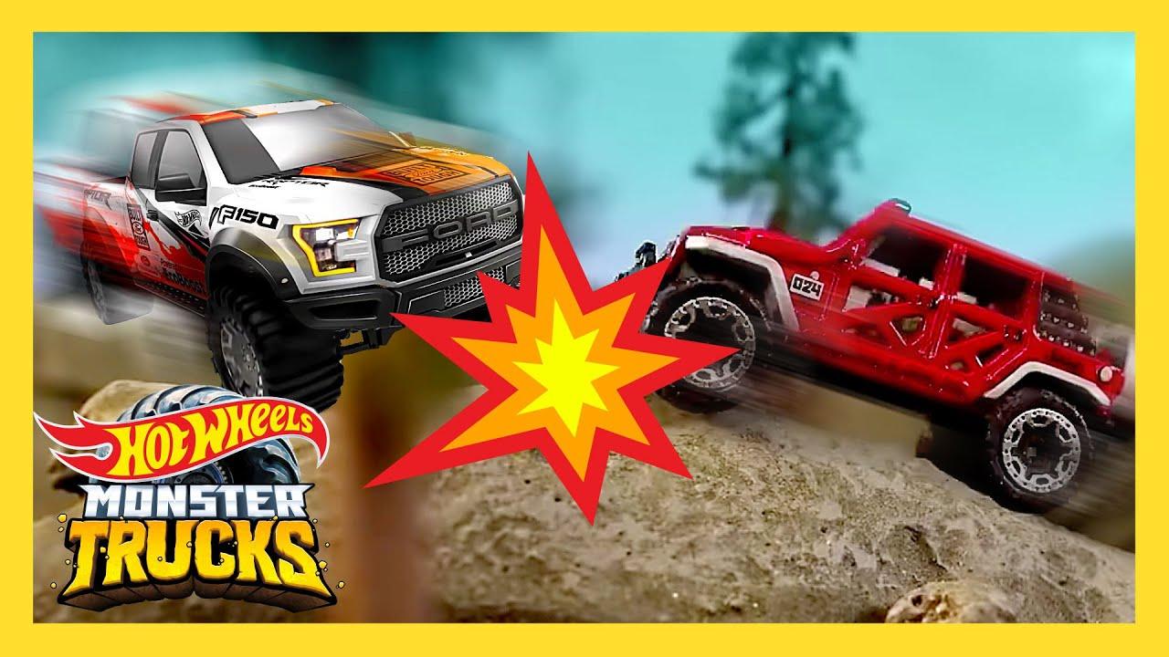 Trucks vs. Cars Challenge: Race to Hot Wheels HQ | Hot Wheels