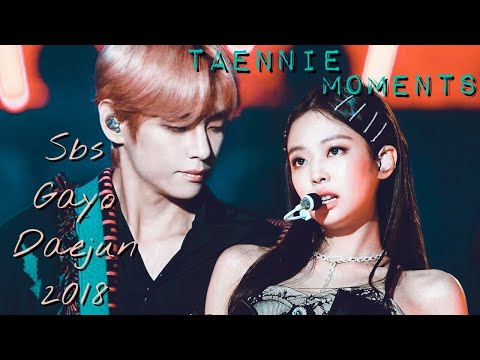 Jennie(blackpink)and Taehyung(bts)||Sbs Gayo Daejun 2018||Taennie moments