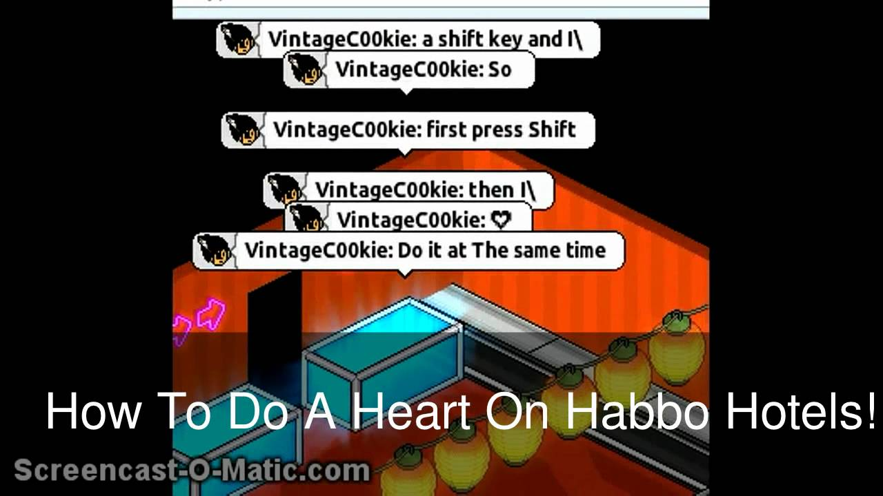 How To Do A Heart On Habbo Hotels Youtube