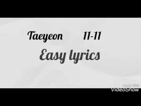 "[EASY LYRICS] Taeyeon - ""11:11"""