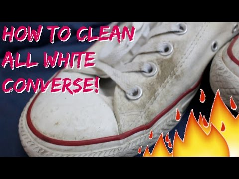 RESHOEVN8R CHALLENGE - How To Clean All White Converse/Chucks