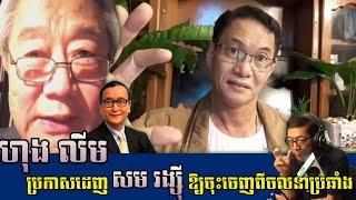 ហុង លីម ទាត់ សម រង្ស៊ី ចេញពីចលនាប្រឆាំង _ Hong Lim asks Sam Rainsy to leave the opposition movement