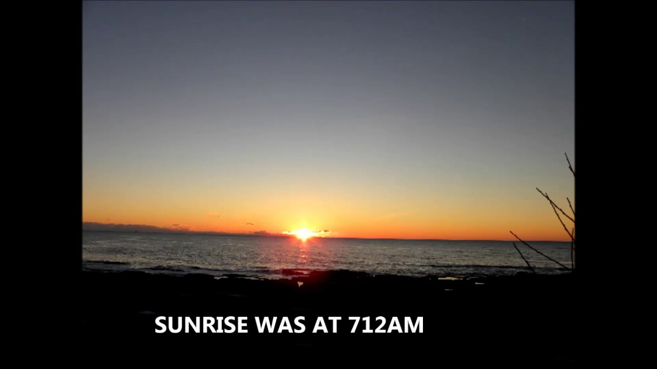 Sunrise timelapse from two lights maine december 25 2016 for What time is it in maine right now