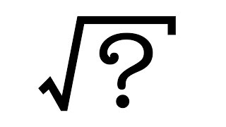 Why is it called a SQUARE root?