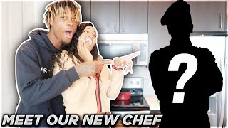 SURPRISING GIRLFRIEND WITH OUR NEW CHEF!!! **VERY EMOTIONAL**
