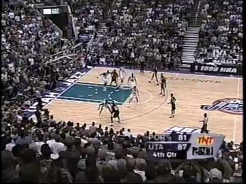 Trailblazers at Jazz - Game 1 - Conference Semifinals - 5/18/99 (Highlights)