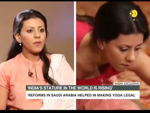 Watch: Nouf Marwaai speak to WION about acceptance of Yoga i