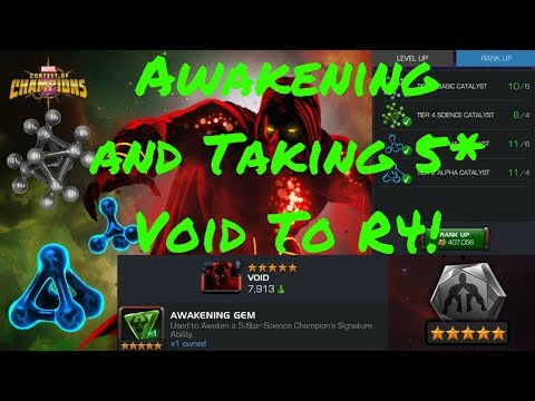 Awakening and Taking 5* Void To Rank 4! - Marvel Contest Of Champions