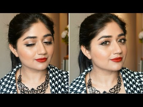 Red Lips With Winged Eye Liner   Makeup Tutorial   Corallista