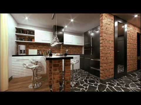 кухня гостиная в стиле лофт Youtube