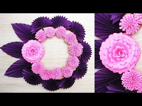 Paper Wall Hanging Craft Ideas - Paper Flower - Paper Craft - Wall Decoration Ideas. k