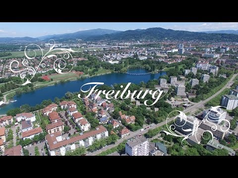 Freiburg Seepark großer Rundflug in 4K 2017 Mai
