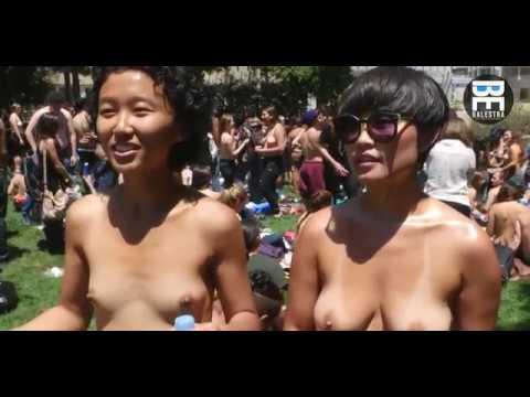 Free the Nipple - جنبش نشون دادن نوک پستون ،دوست داشتید شما هم اونجا بودید ؟ خخ