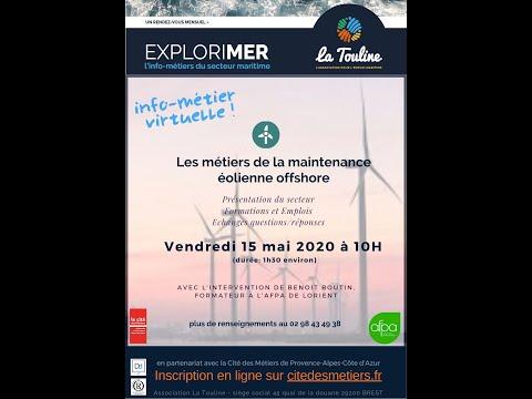 ExploriMER - l'info-métiers du maritime: Technicien de maintenance éoliennes Offshore